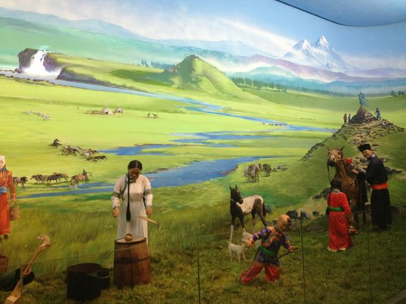 The museum dioramas