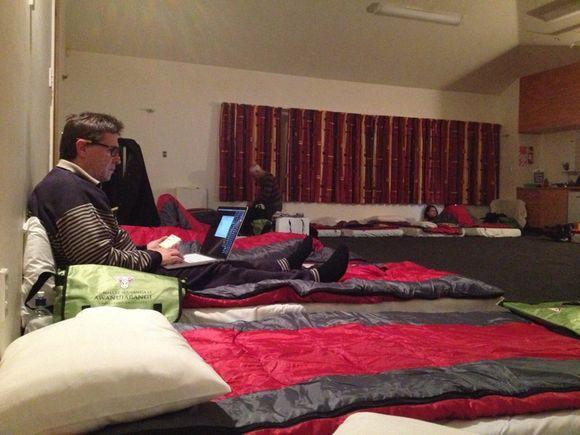 Bedding up at the Matirerau