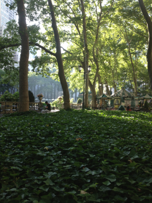 Breakfast at Bryant Park NYC