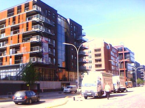 New constructions facing Speicherstadt